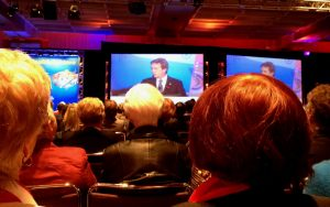 Keynote Speaker Martin Short addresses an appreciative audience of 2,500 at the convention center ballroom.