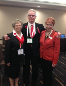 HAAO Dir. of Communications Rick Wark and HAAO Treasurer Elda Sopha offer a warm welcome to BCAHA President Lynda Avis.