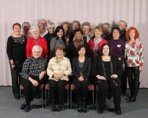 A dedicated group of Thrift Shop volunteers get together at the Eagle Ridge Hospital Auxiliary Christmas luncheon.